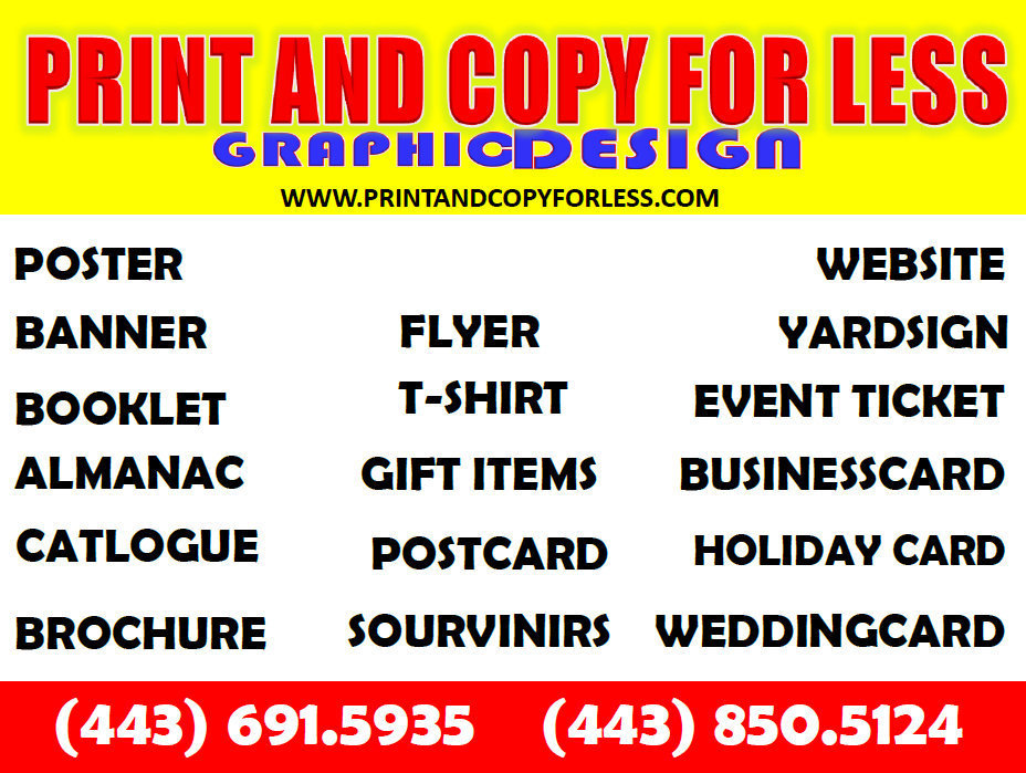 print and copy for less graphic design