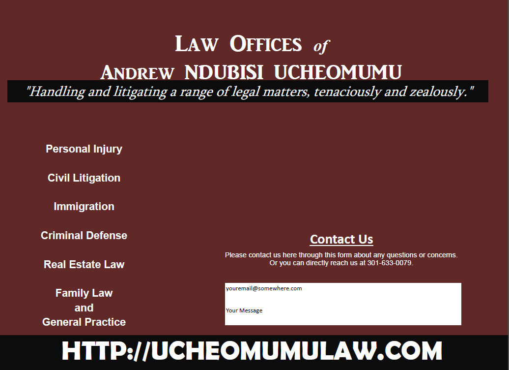 law offices of andrew ndubisi ucheomumo